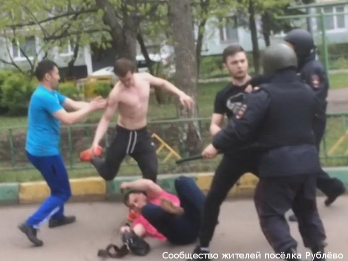Массовая драка в поселке Рублево на основе этнической неприязни