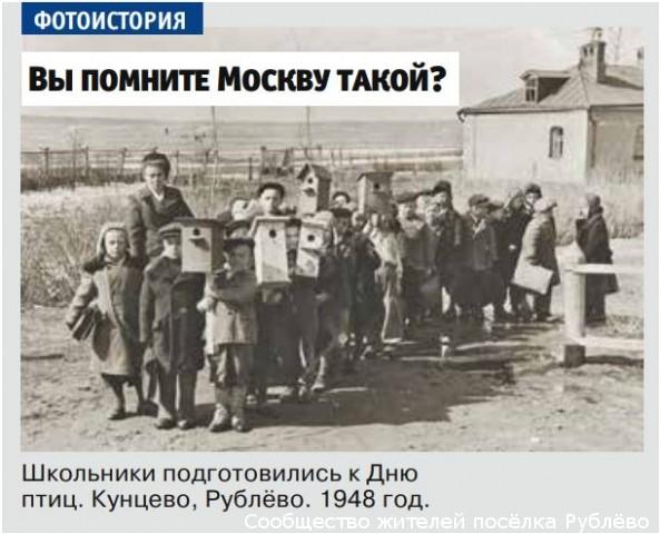 Школьники подготовились к Дню птиц. 1948 год