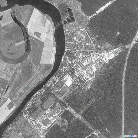 Карта Москвы со спутника-шпиона 1966 года. Западная часть