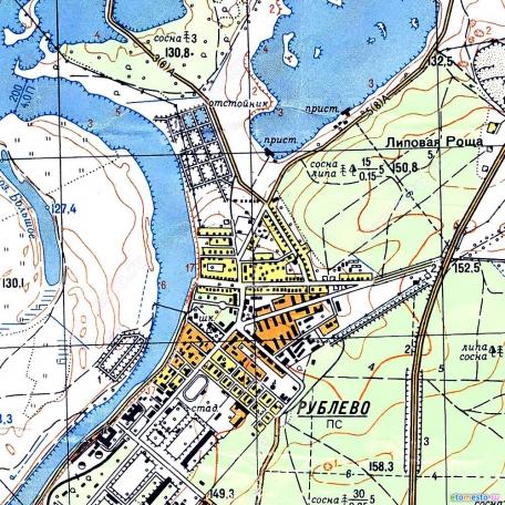 Москва и ближайшая область (запад), карта Генштаба Советской Армии 1964-1968 года