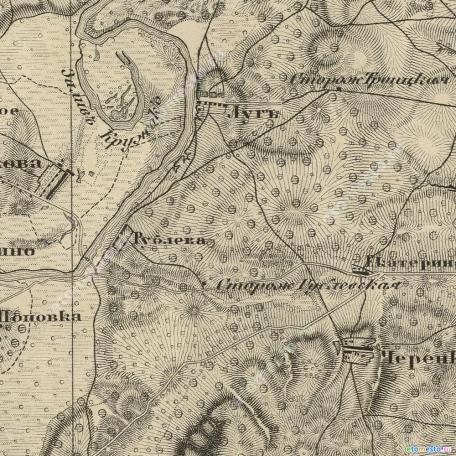 Карта Шуберта Московской губернии. 1860 год